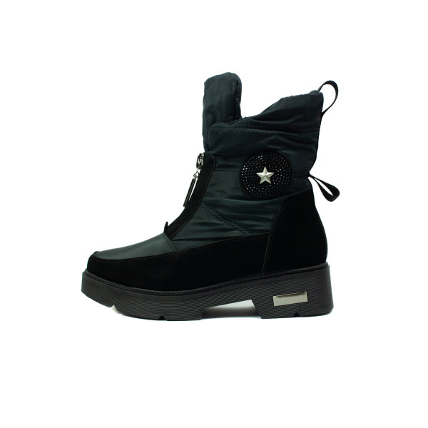 Ботинки зимние женские Lonza X18-4-N540 черные