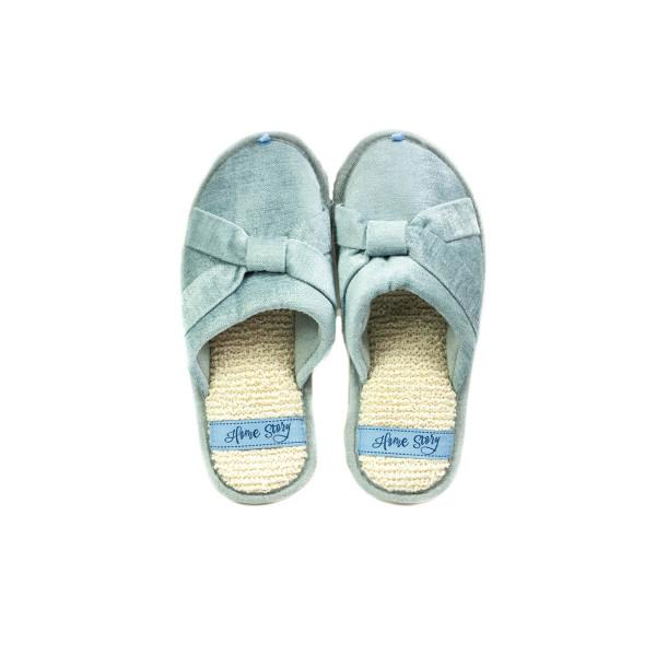 Тапочки комнатные женские Home Story 211240-E голубые