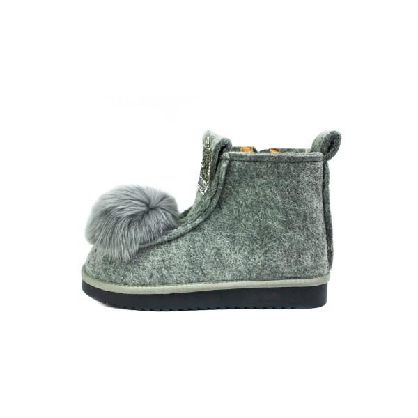 Ботинки зимние женские Lonza E033-1 серые