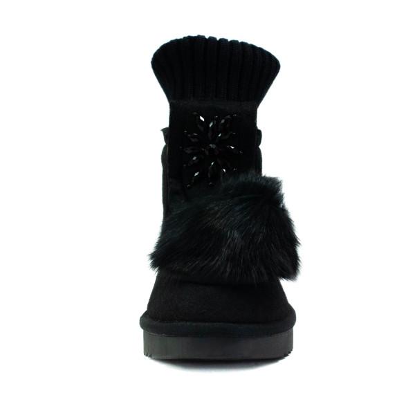 Ботинки зимние женские Lonza E037 черные