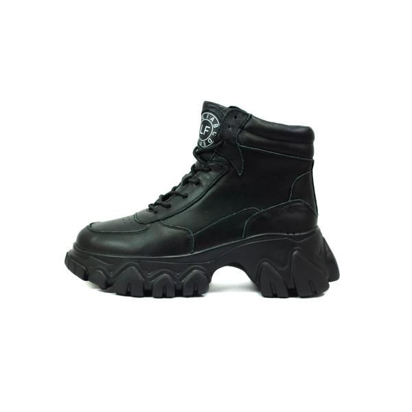 Ботинки демисезон женские Allshoes OAV19982 A черные