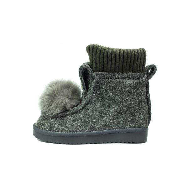 Ботинки зимние женские Lonza E037-2 серые