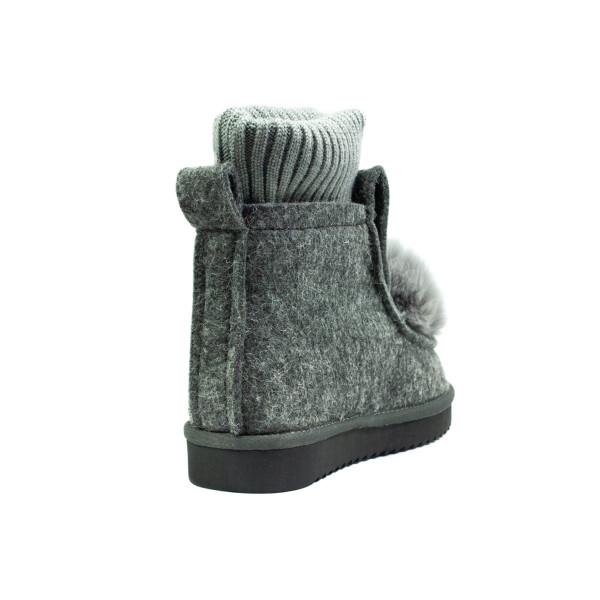Ботинки зимние женские Lonza E037-1 серые